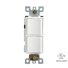 White Plastic American Wall Modern Electric Switch