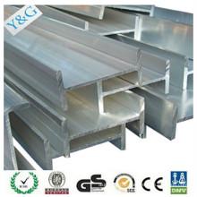 2024 aluminium alloy profile anodizing extruded H shape aluminium profile