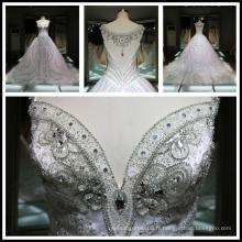 2017 Luxury Hot Drilling Diamond Handmade Robe de mariée en perles lourdes Bling Bling Bling Tiamero 1A843