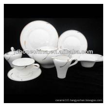 on sale diamond micro platinum silver bone china porcelain ceramic dinner set