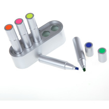 5PC Silbrighighlighter Pen in einer Platic Box (6538)