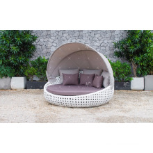 Classy Design Polyethylene Rattan Sunbed or Daybed For Outdoor Garden Patio Beach Resort Pool Wicker Furnitre