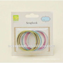 colourful scrapbooking supplies/ glittering decor frame