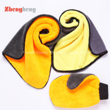 OEM Produzido Coral Fleece Towels and Glove Set