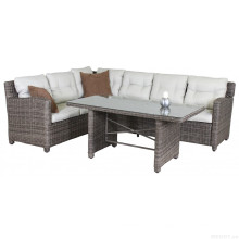 Mobília do pátio jardim vime sofá Lounge conjunto Rattan ao ar livre