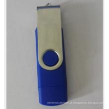 Plástico barato OTG USB Pendrive para o mercado de atacado