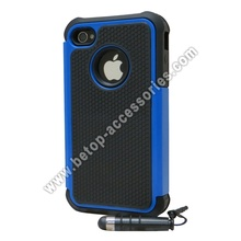 Rugged Rubber Hard Case For iPhone 4s