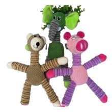 brinquedos de pelúcia de animais macios mastigando cachorros de estimação interativos