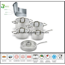 10PCS Tri-Ply All Clad Cookware Set