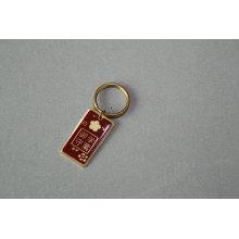 Llavero plateado de oro con epoxy-goteo en Logo (GZHY-YSK-0044)