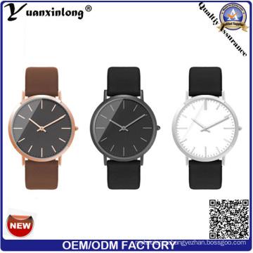 Yxl-014 супер тонкий Стиль стальной корпус mov'T Японии из нержавеющей стали часы элегантность мода наручные часы для мужчин женщин