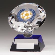 80mm Diamond Spirit Crystal Fußball Trophy - Kostenlose Gravur