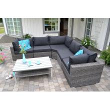 Osier jardin Patio Sofa Lounge Set rotin meubles extérieurs