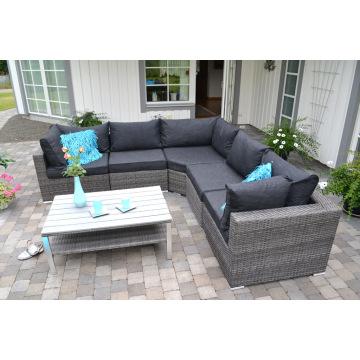 Salón sofá de mimbre de jardín Patio conjunto muebles al aire libre de la rota