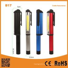 Multi-Functional Pen forma COB portátil LED trabajo luz con clip magnético