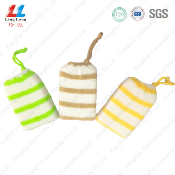 Microfiber cloth bath sponge