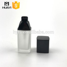 30ml square shape cosmetic body glass lotion bottle
