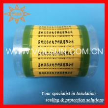 Identificador permanente 2X bucha amarela termoencolhível