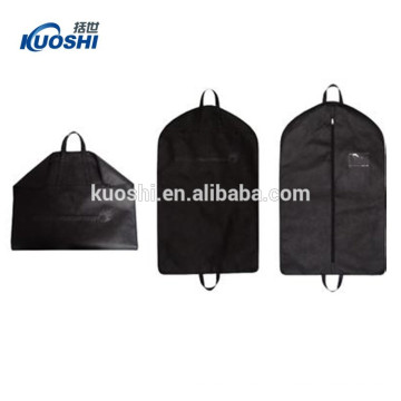 wholesale cotton frabic breathable garment bag with logo print