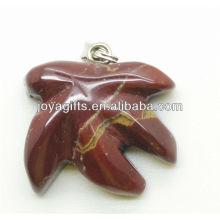AAA Grade natürlichen roten Stein Ahornblatt Anhänger für Halskette