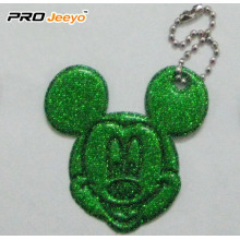 Hi-Vis PVC Sheet Green Mickey Pendant For Kids