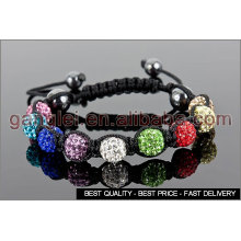 mixed color shamballa bracelet