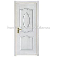 Blanco Nuevo diseño simple melamina acabado moldeado puerta