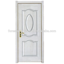 Porta moldada terminada da melamina do projeto simples novo branco