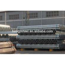 Tubo de acero redondo galvanizado de carbono ASTM A53