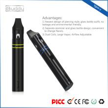 Dual Coils cigarro electronico Ensemble de stylo à vapeur réglable Large Vapor Airflow