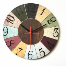 Hot selling MDF Wholesale 12 inch quartz cheap mdf retro wood wall clock