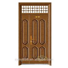 L'intérieur américain utilise la porte en acier de sécurité à la maison foncée de bown