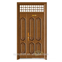 Unique home exterior steel security storm double door design
