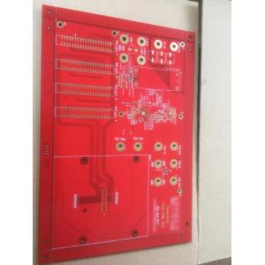 4 layer 1.6mm red solder  countersink hole PCB