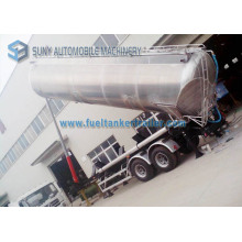 45000 Liters Honey Lifting Tanker Trailer, Tandem Axle Food Grade Aluminum Tank Truck Trailer