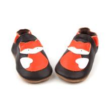 Kolorowe miękkie skórzane buty