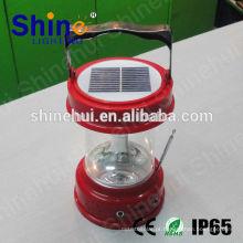 Portátil fonte verde levou carregador de rádio lanterna solar / solar manivela lâmpada