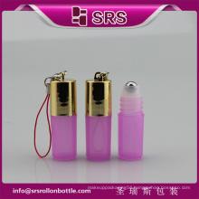 Round Shape Roll On Bottle For Eye Cream , 3ml Mini Plastic PP Bottle , roller ball bottle for essential oils