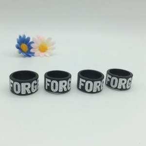 Debossed Ink Filled Silicone Finger Bands