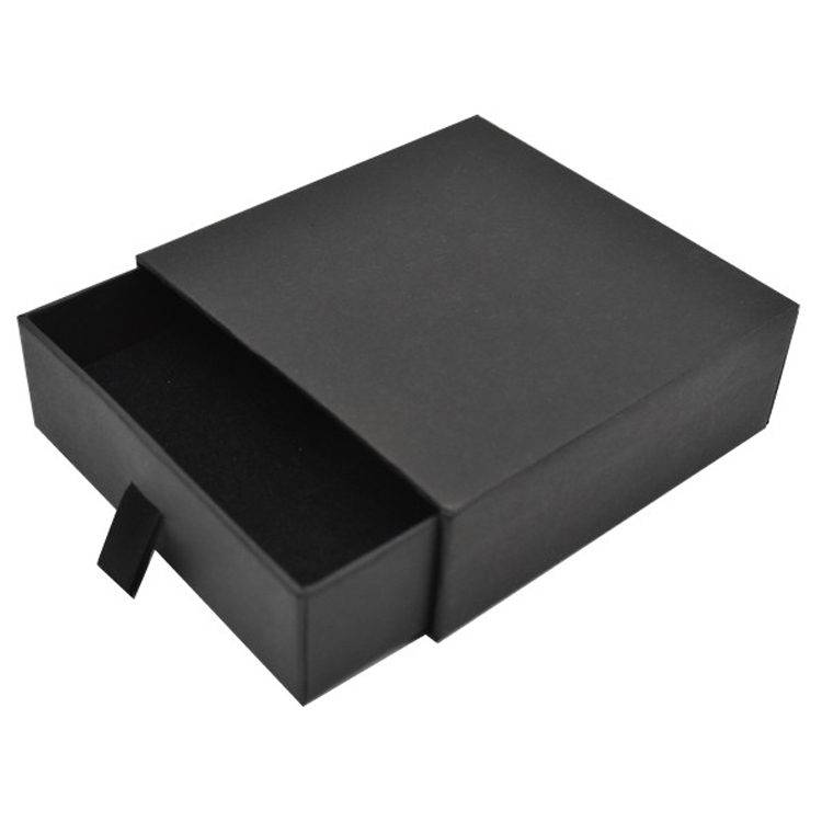 Drawer Style Black Paper Jewelry Earring Box