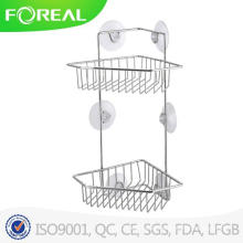 High Quality Bathroom Corner Rack with Suction Hook