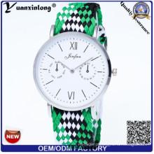Yxl-211 novo estilo vogue senhora assistir nylon nato cinta de quartzo homens esporte relógios de pulso senhoras relógio