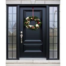 Nuevas puertas de entrada de paneles de madera de roble de diseño simple y sencillo.