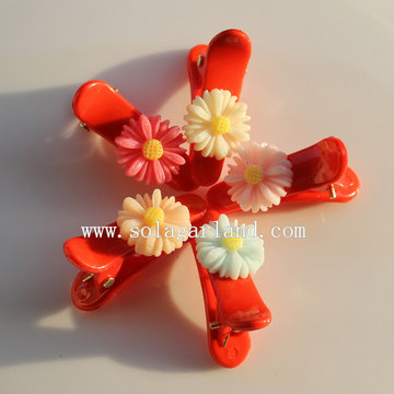 Colors Popular Resin Flower Hair Clip Accessories