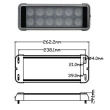 High Power LED Interior Light 24W EMC Approved