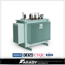 Transformador de distribución de energía sumergido en aceite 1500kVA