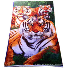 Animal print beach towel, 70x140cm hot-selling size/Azo-free printing/exported to European countries