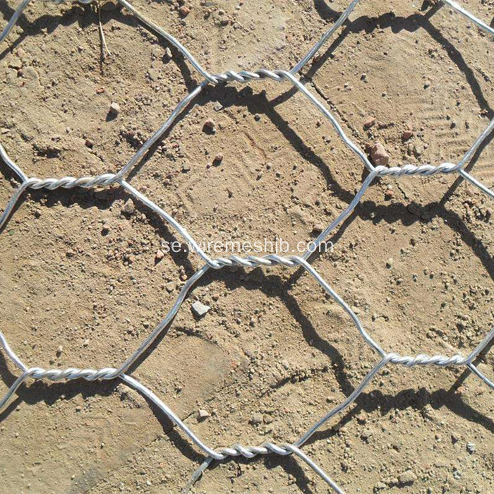Hot-dip galvaniserad hexagonal mesh Gabion Madrass