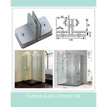 Square 180 Degree Bathroom Glass Fitting Clamp (CR-G29)