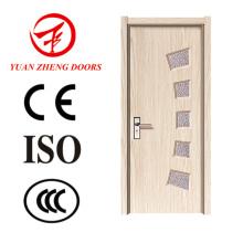 Puerta de madera moderna Puerta de madera barata con cerradura de puerta
